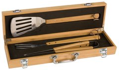 Bamboo BBQ Box Set with 3 Serving Utensils