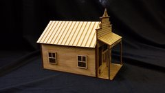 O Scale Store House Warehouse Saloon Kit Model Railroad Train Building On30 Scale