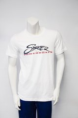 Men's White Script T-Shirt