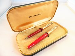 WATERMAN'S C/F FOUNTAIN PEN SET w/ BOX