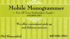 Mobile Monogrammer - By Appointment Only