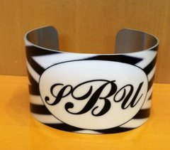 "MONOGRAM ""CHEVRONESQUE"" tm CUFF BRACELET 2"""