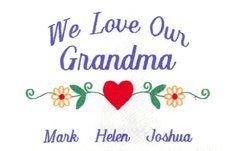 EMBROIDERED-WE LOVE OUR GRANDMA-SWEATSHIRT