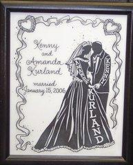Wedding Silhouette-Jewish