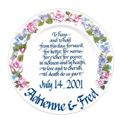 Personalized Wedding Plate-Floral