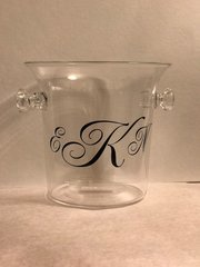 Monogrammed Small Acrylic Ice Bucket