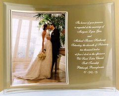 "Engraved Crystal Invitation & 8""x10"" Photo Frame"