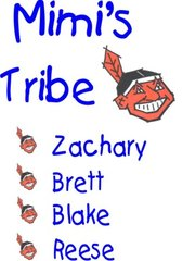 INDIANS TRIBE FAMILY TEE SHIRT-PERSONALIZED