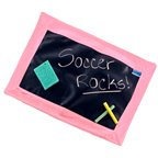 PERSONALIZED CHALKBOARD PLACEMAT - PINK with chalk