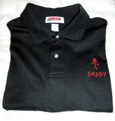 Emb. #1 Daddy Sport Shirt with stick figure