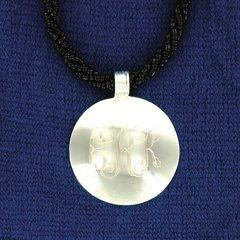Engraved Round Pendant- SilverPlated