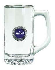 Glass Stein with Imprinted Pewter Disc