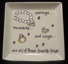 Jewelry Plate-Handpainted-6x6