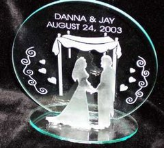 Engraved 3-D Carved Judaica Cake Topper-Acrylic