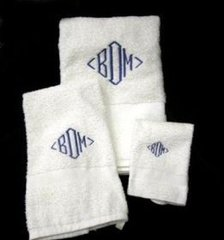 Towels-Set of 3-Embroidered
