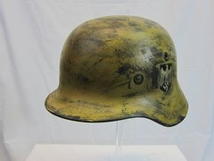 WWII German M-40 Heer Army Camouflage Helmet, Single Decal - ORIGINAL -