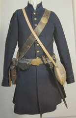 Civil War - Union Enlisted Man's Uniform Frock Coat, loaded with Accoutrements - ORIGINAL VERY RARE - SOLD