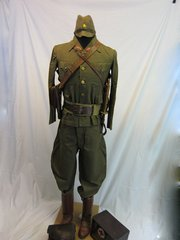 WWII Japanese Officer's Complete Tropical Battle Uniform Group -ORIGINAL RARE - SOLD