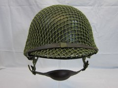 WWII U.S. Paratroopers Helmet Steel Pot, Swivel Bale, Front Seam w/Westinghouse parachutists Liner, ID'd - ORIGINAL RARE-