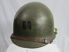 WWII USMC 1st Marines Steel Pot Helmet, Swivel Bale, Front Seam w/IMP Liner, Id'd to 1st Marine, 3rd India Co. - ORIGINAL - SOLD -