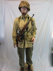 WWII U.S. 101st Airborne Paratrooper's Jump Uniform, Sergeant's Grouping, ID'd, -ORIGINAL RARE- SOLD