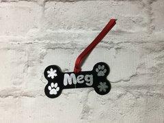 Handmade Acrylic Dog Bone Personalised Christmas Decoration