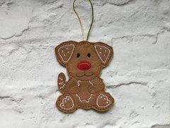 Felt Dog Hanging Decoration Personalised