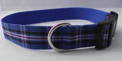 Rangers Tartan Dog Collar Handmade Plaid