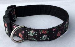 Guns, Roses and Skulls Handmade Dog Collar