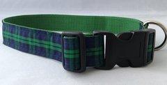 Black Watch Tartan Handmade Dog Collar Plaid