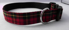 Wallace Tartan Dog Collar Handmade Plaid