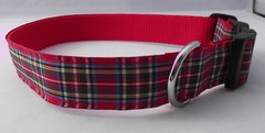 Royal Stewart Tartan Dog Collar Handmade Plaid