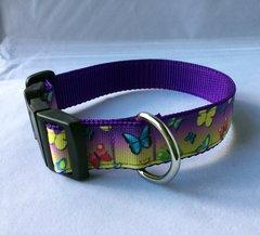 Butterflies Multi Coloured Handmade Dog Collar