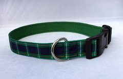 Campbell Tartan Handmade Dog Collar Plaid