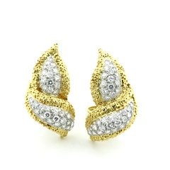 Diamond and gold earrings 18k