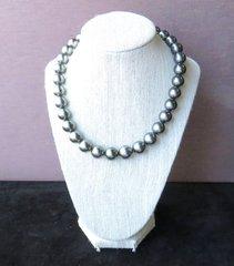 Black south sea pearl strand