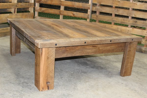 Reclaimed Oak Coffee Table with Drawers KCURBANWOODS