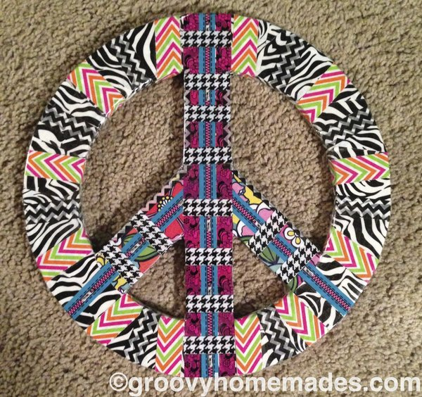 Peace Sign Wall Art singer/songwriter peace sign wall art | groovy homemades