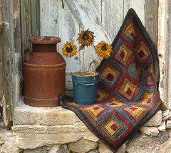 Log Cabin Rug Pattern