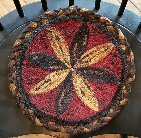 Pennsylvania Star Chair Pad Pattern Log Cabin Rugs