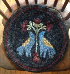 Two Love Birds Chair Pad Pattern