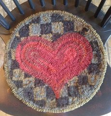 Checkerboard Heart Chair Pad Pattern