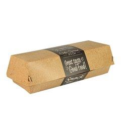 """Baguette boxes, cardboard """"pure"""" 6,2 cm x 7,5 cm x 21 cm """"Good Food"""" (125 pieces)"""