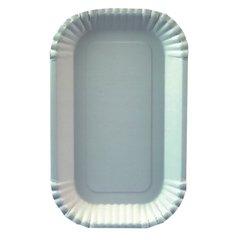 "Bowls, cardboard ""pure"" square 15 cm x 23 cm x 2 cm white (100 plates)"