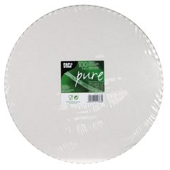 """Cake holders, cardboard """"pure"""" round Ø 28 cm white with jagged edge (100 pieces)"""