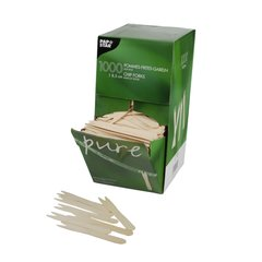 """French fries forks, wood """"pure"""" 8,5 cm (1000 pieces)"""