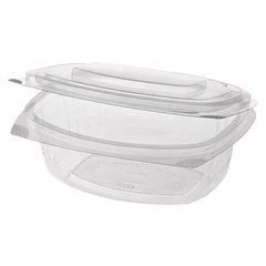 "Delicacies and salad bowls with lid, PLA ""pure"" 750 ml 6,6 cm x 20,5 cm x 16,8 cm (50 pieces)"