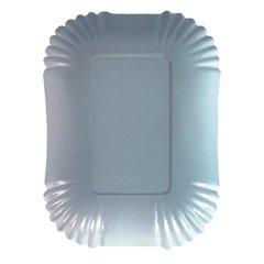 "Bowls, cardboard ""pure"" square 13 cm x 17,5 cm x 3 cm white (250 plates)"