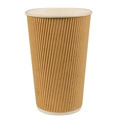 """Drinking cup, cardboard """"pure"""" 0,4 l Ø 9 cm x 13,7 cm Ripple Wall (25 cups)"""