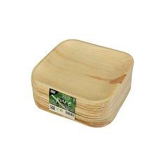 """Plates, Palm leaf """"pure"""" square 18 cm x 18 cm x 1,5 cm (25 plates)"""